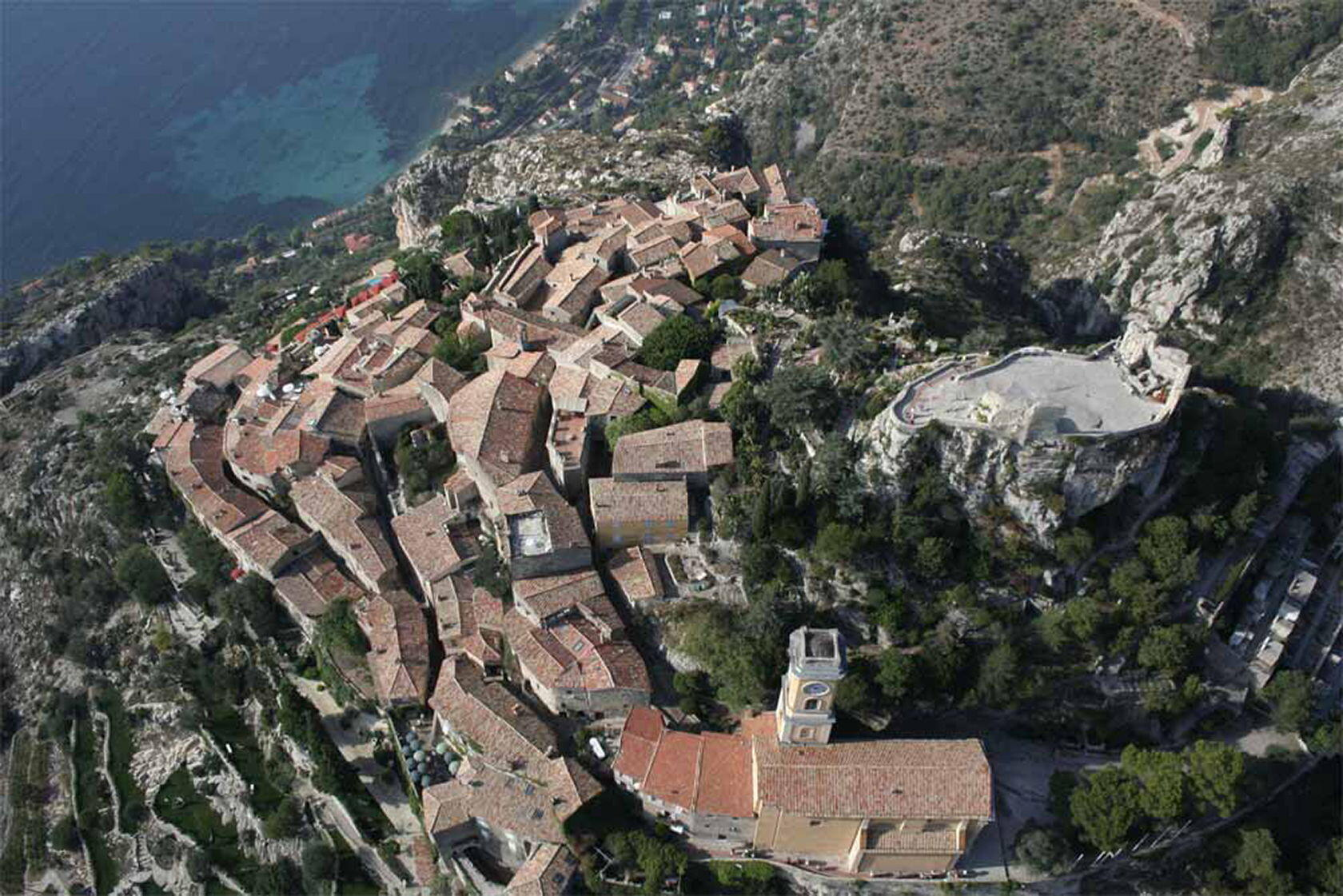 Eze Village French Riviera Aerial View