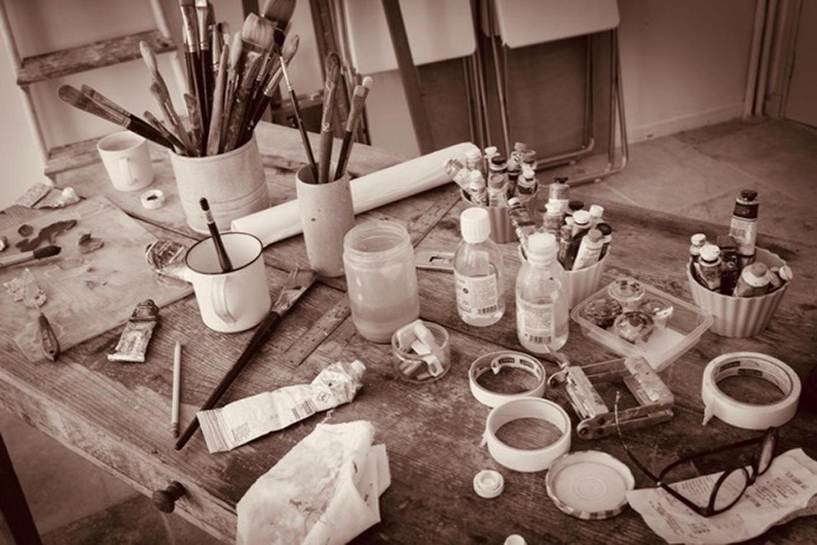 Artist Studio Jill Douglas Painting Provence