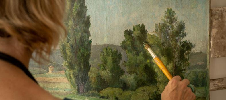 Jill Douglas Painting Provence Artist Work Arles