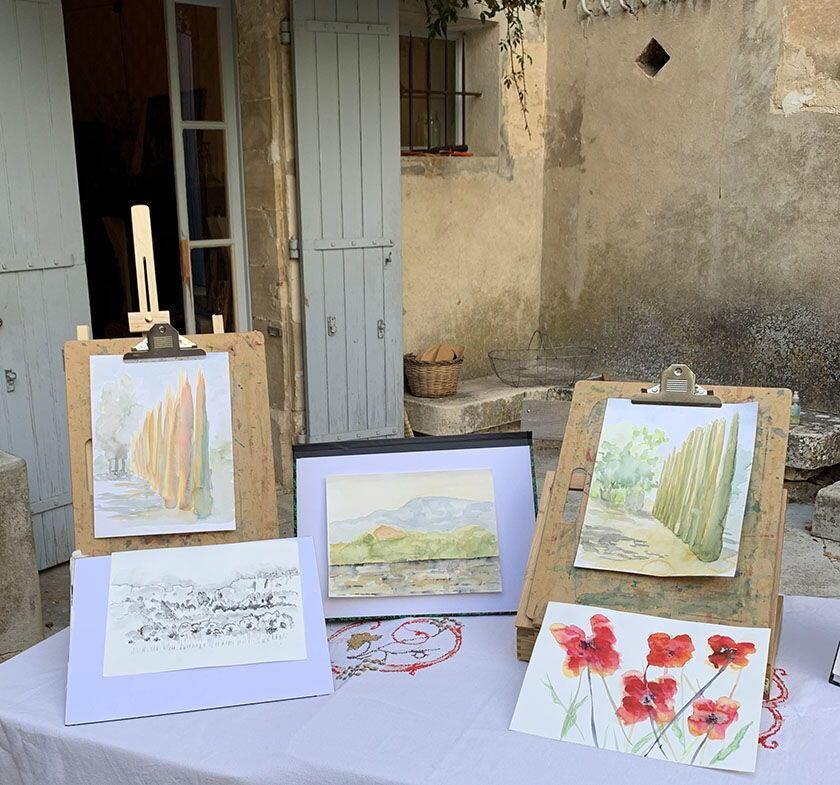 Painting Workshops Provence Tessa Baker Retreats