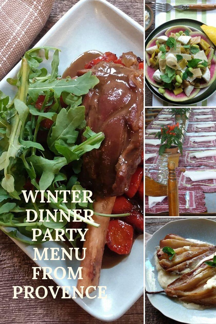 Winter Diner Party Menu 2020 Provence