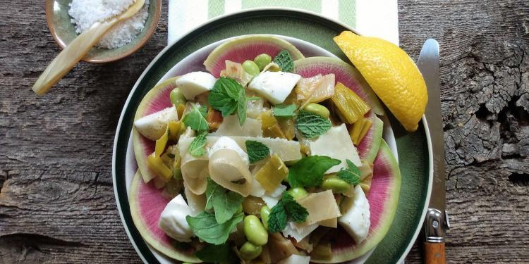 Winter Dinner Party Menu Warm Salad Roasted Leeks