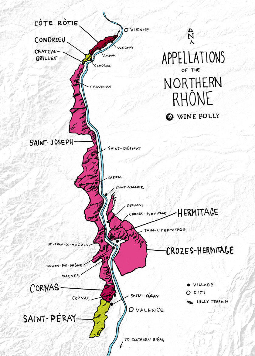 Northern Rhône Valley Wines Wine Folly