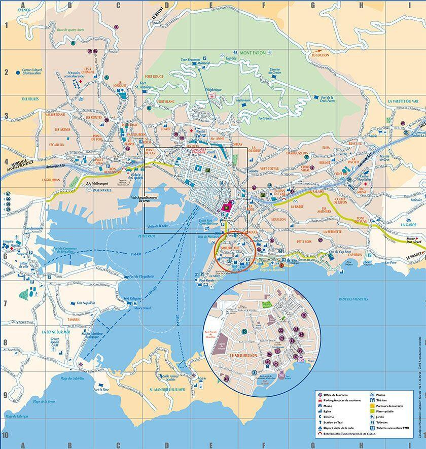 Map Toulon France Worth Visiting