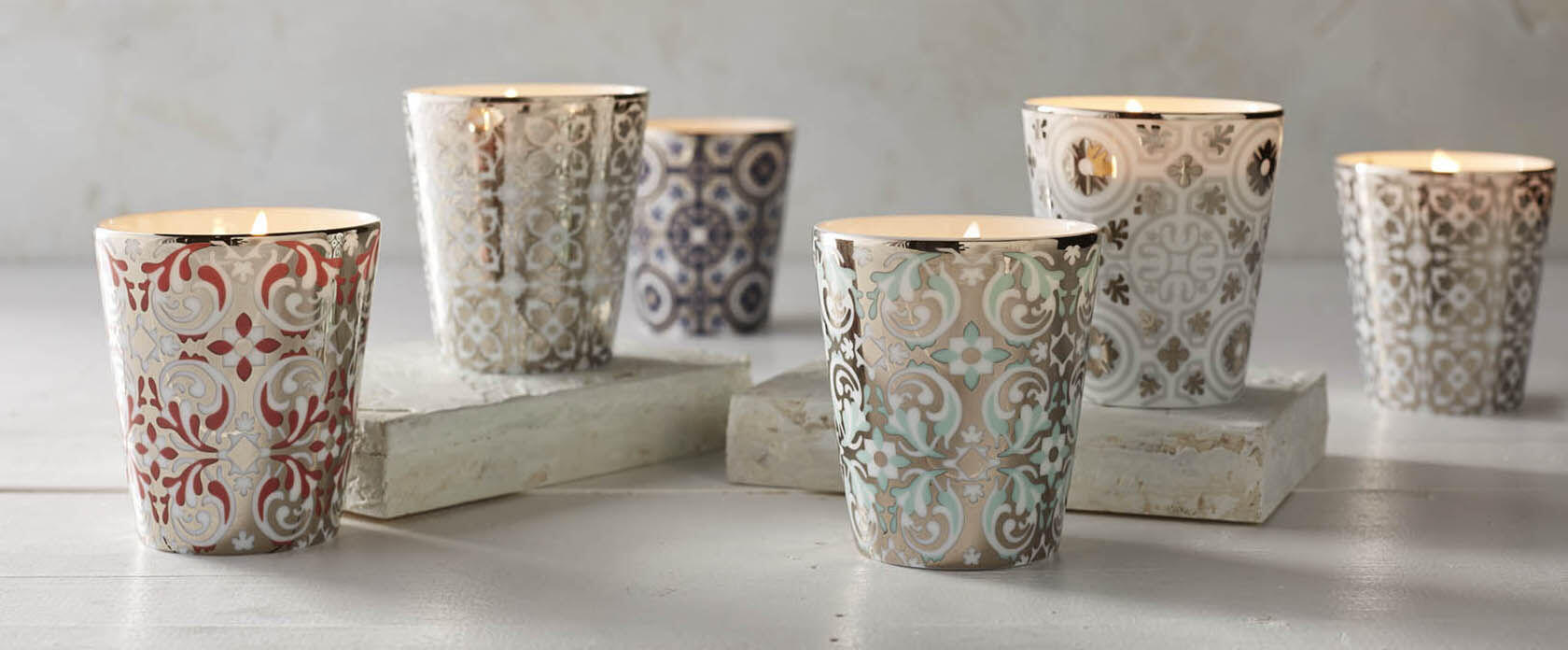 Rose et Marius Limoges Ceramic Candle Collection