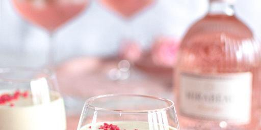 Raspberry Gin Panna Cotta