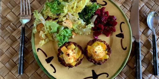 Appetizer Tomato Olive Tarts Shells