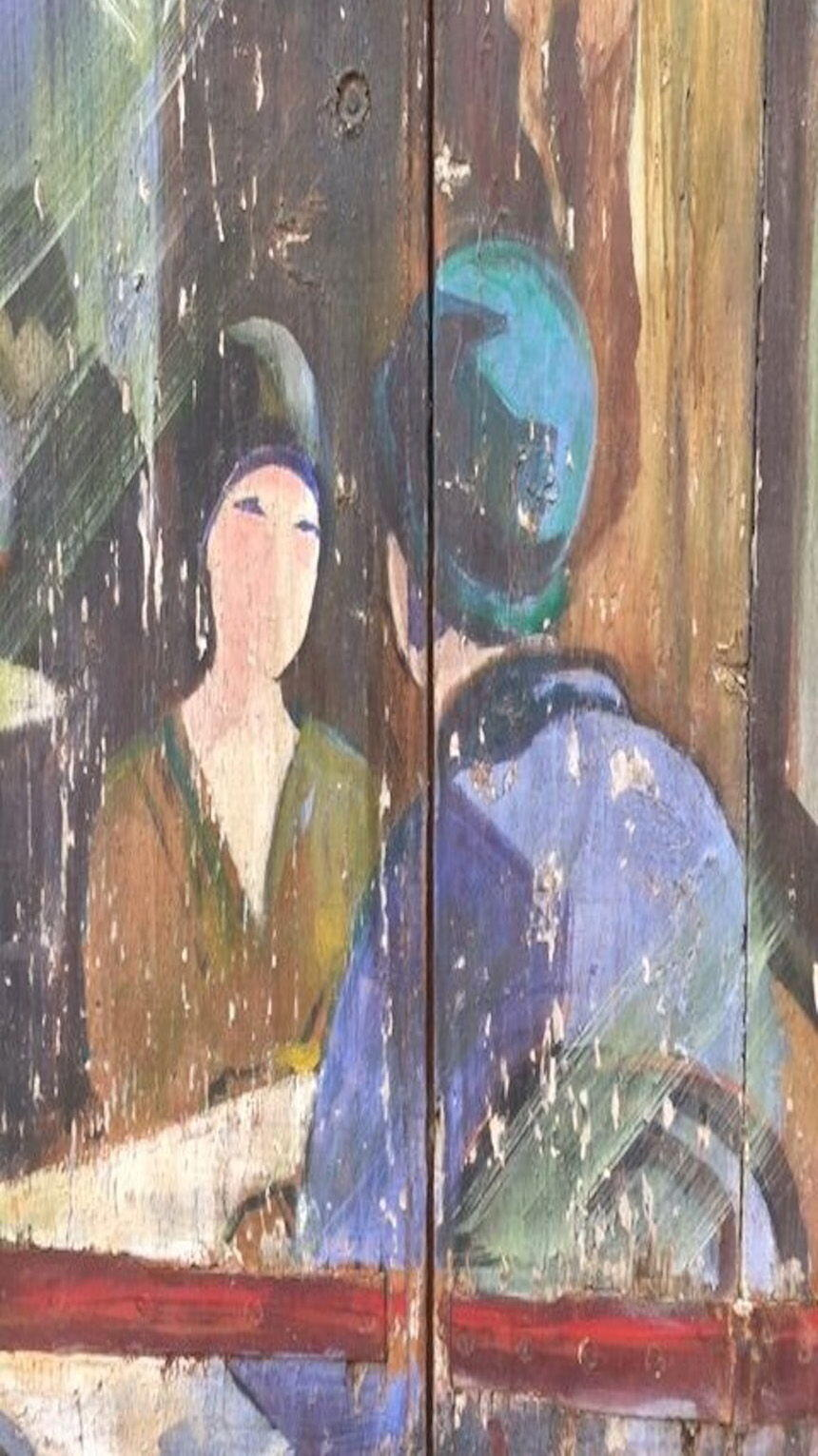 Experience Art Travel Provence Hand painted Door