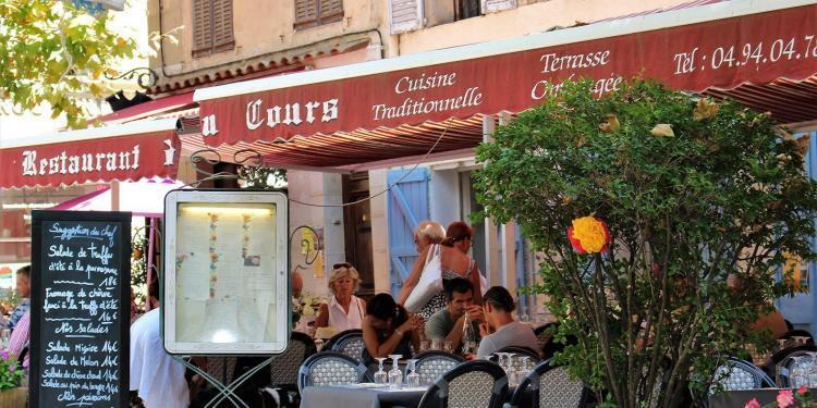 Restaurant du Cours Provencal Village Life Cotignac