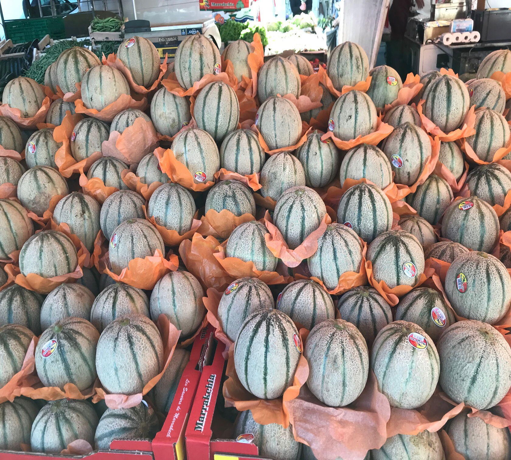 Market melons St Remy de Provence Favourite Villages Vineyards Alpilles