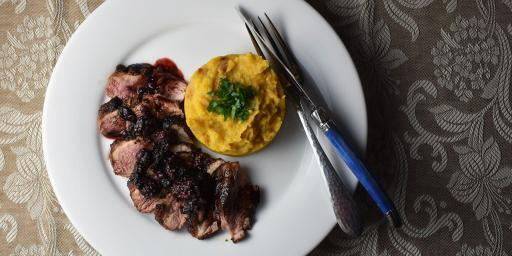 Spiced Duck Breasts Blackberry-Balsamic Sauce