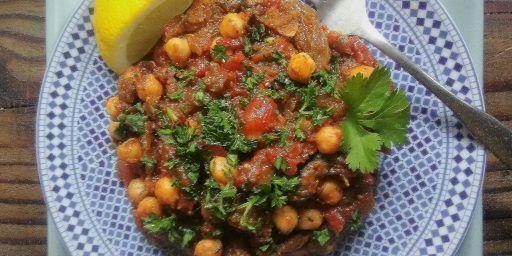 Moroccan Zaalouk d'Aubergine Spiced Eggplant Salad