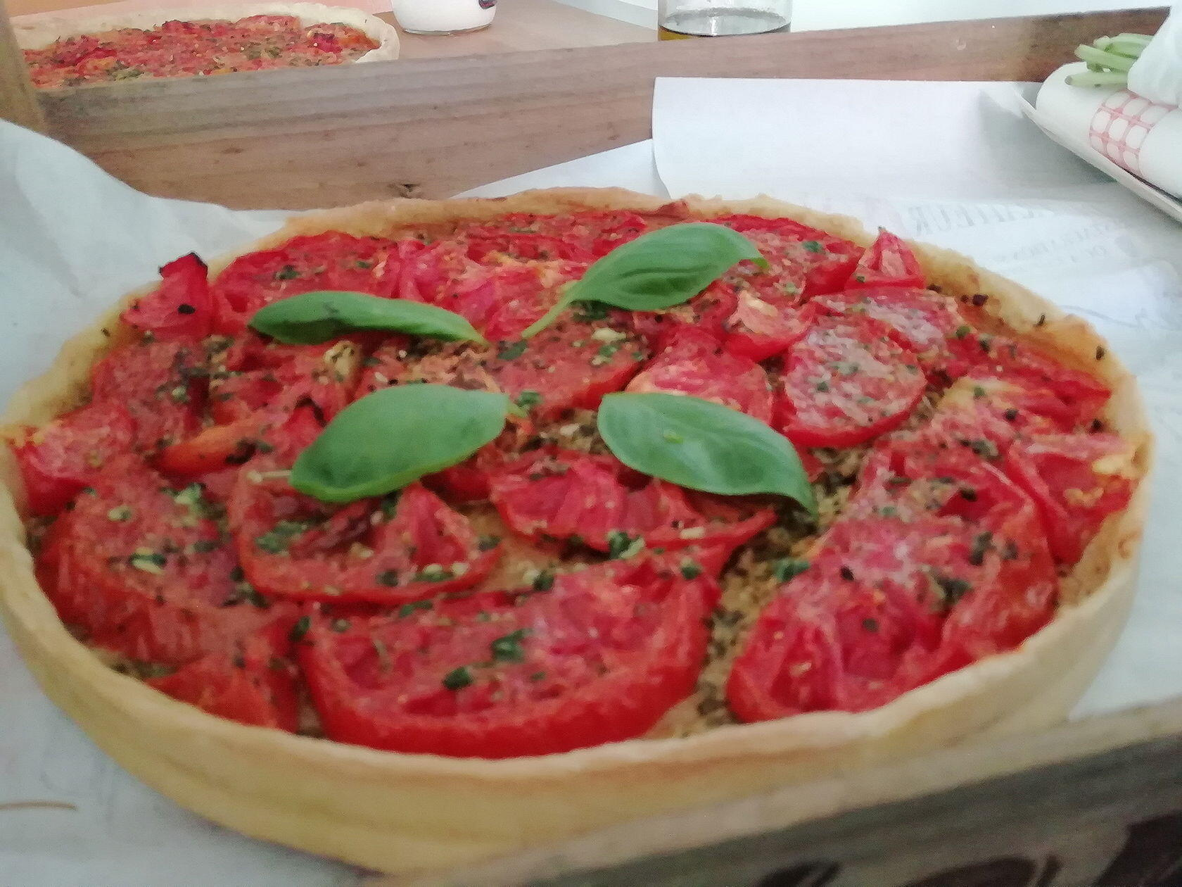 Tomato Pesto Tart Provencal Lunch