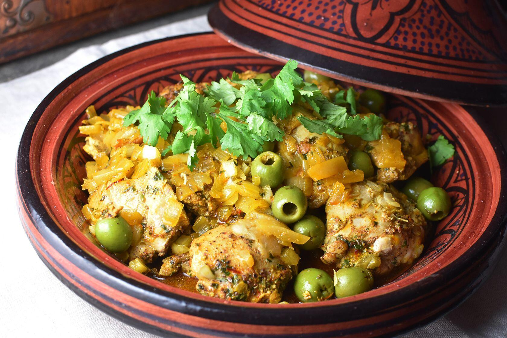 Recipe Chicken Tagine Green Olives and Preserved Lemon