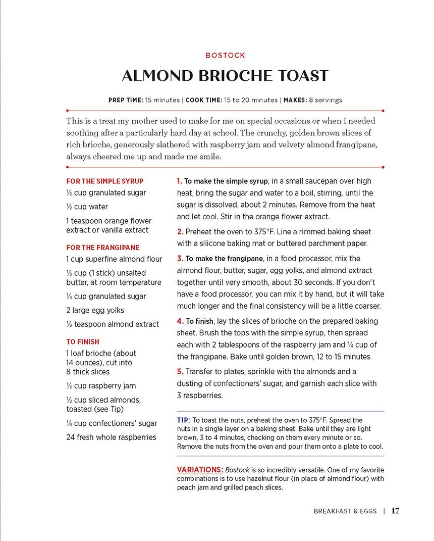 French Cookbook Almond Brioche Toast Recipe
