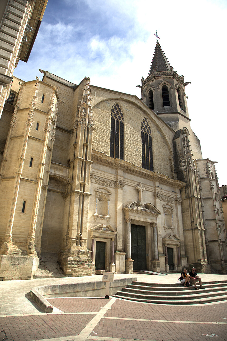 The Ancienne Cathédral St-Siffrein on Place Charles de Gaulle at Carpentras Vaucluse