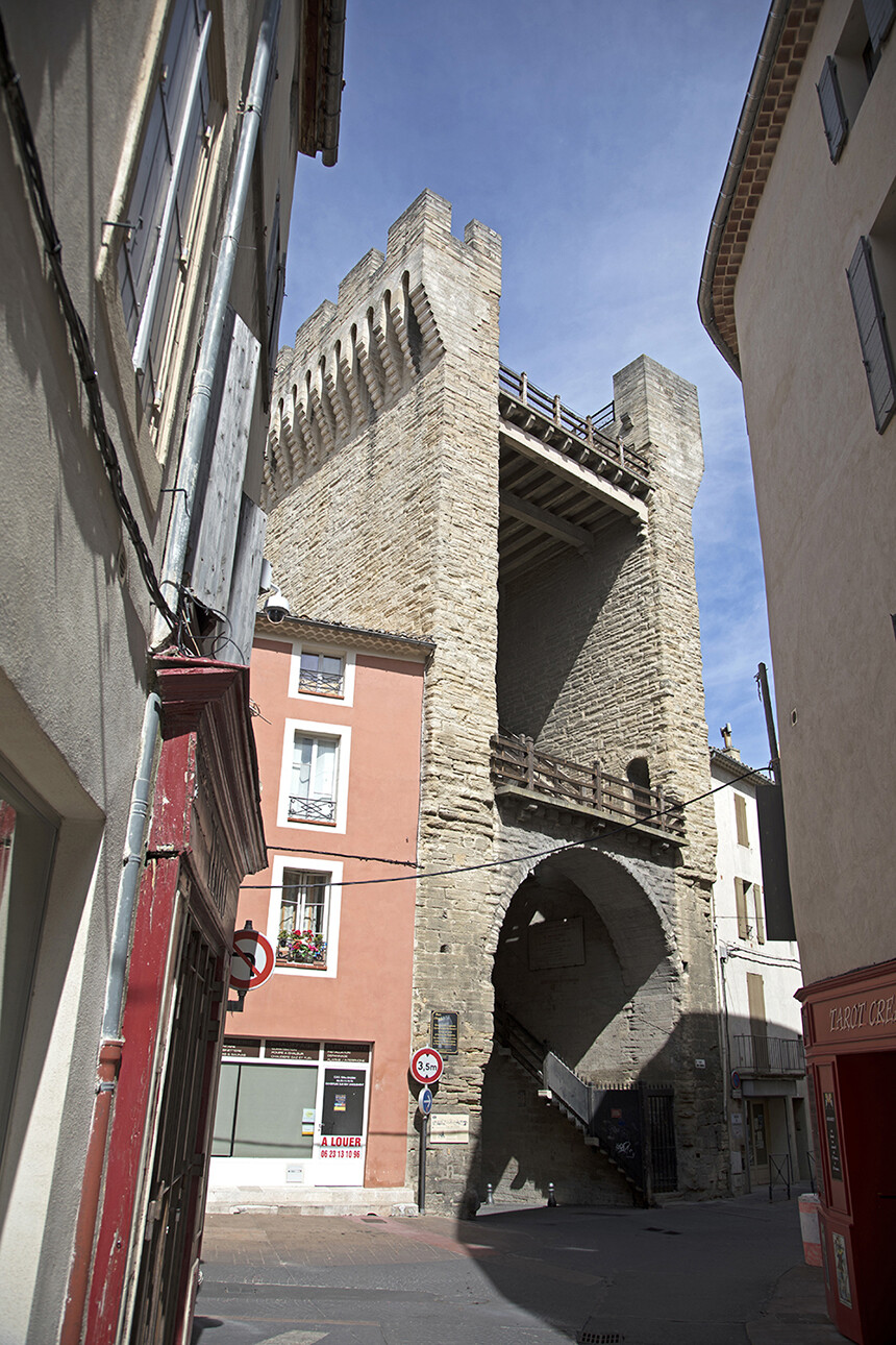 The Porte d'Orange part of the City Wall at Carpentras Vaucluse