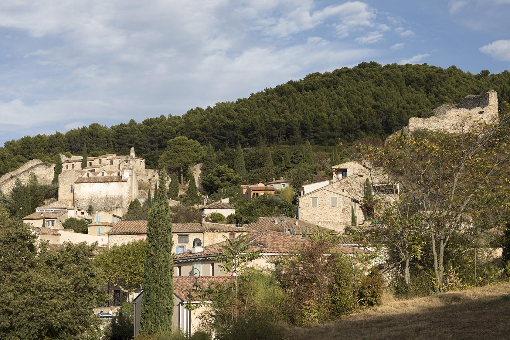 Côtes-du-Rhône Wine Village of Gigondas in the Vaucluse
