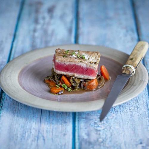 Seared Tuna Sorrel Provencal style