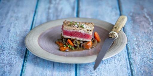 Seared Tuna Sorrel Provencal style