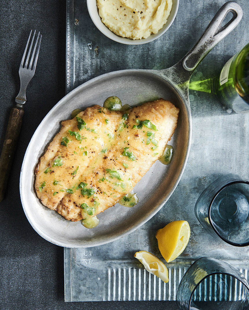 Sole with Butter Sauce Write French Cookbook