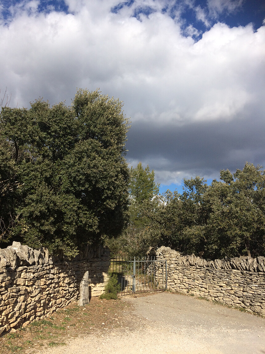 Storm clouds in Provence