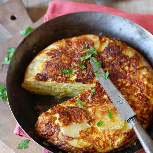 Summer Lunch in Provence Spanish tortilla
