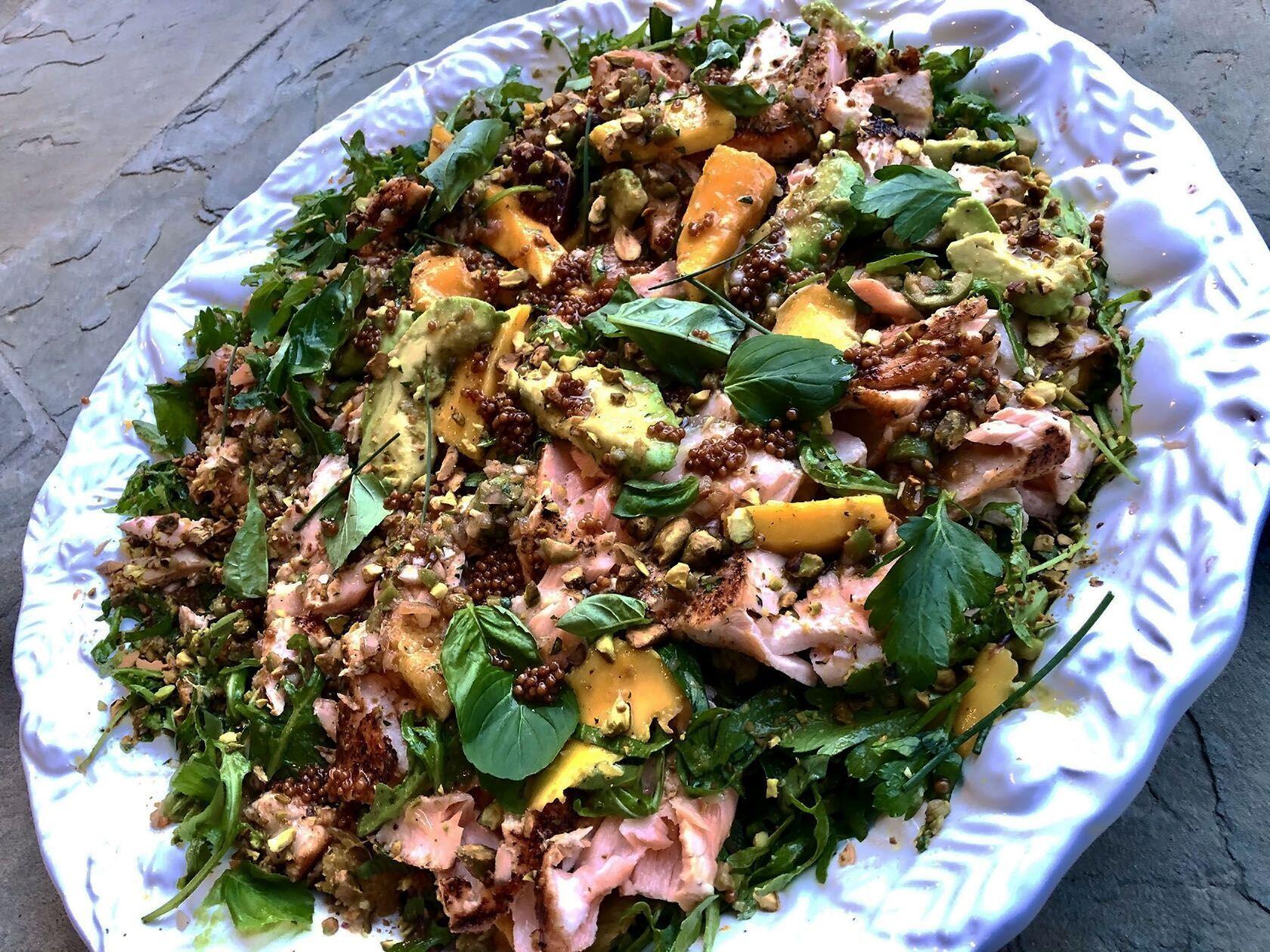 Summer Salmon Salad Citrus Mango