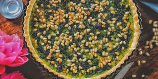 Swiss Chard Tart Dessert - Tarte niçoise aux blettes et pignons de pin