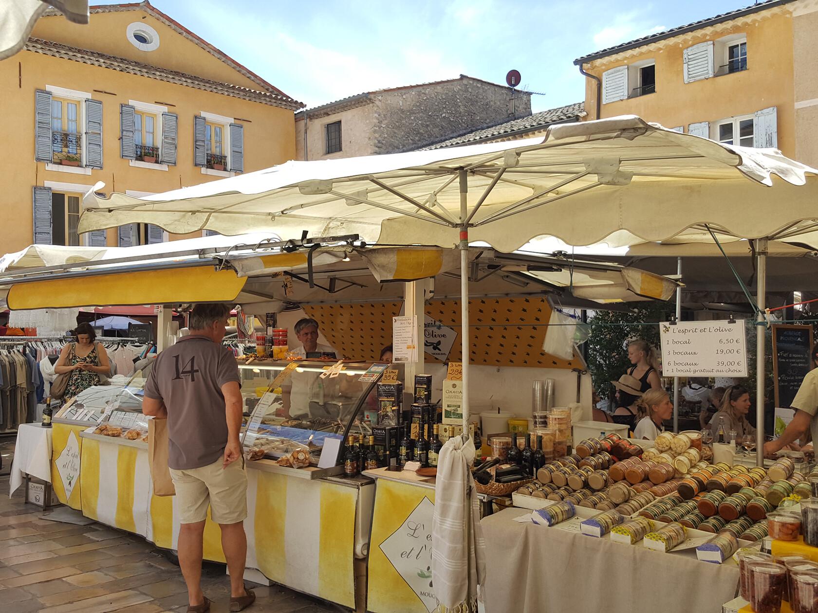 Valbonne weekly market French Riviera