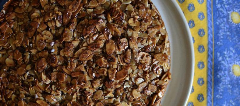 Salted Almond Praline Cake