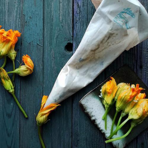 How to Stuff Zucchini Blossoms