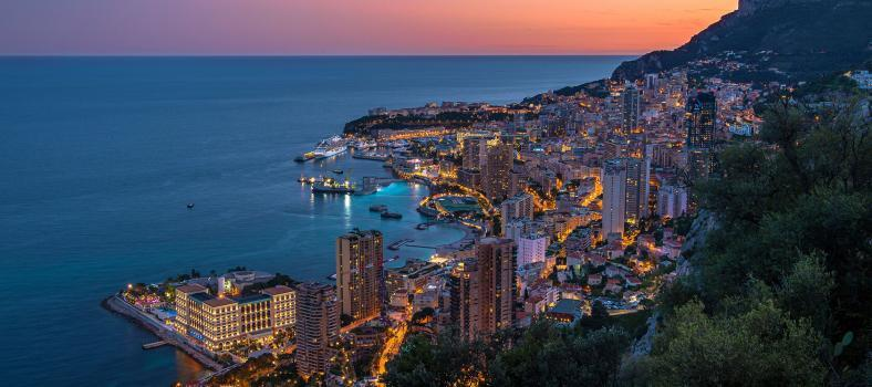 Monaco City View at Night