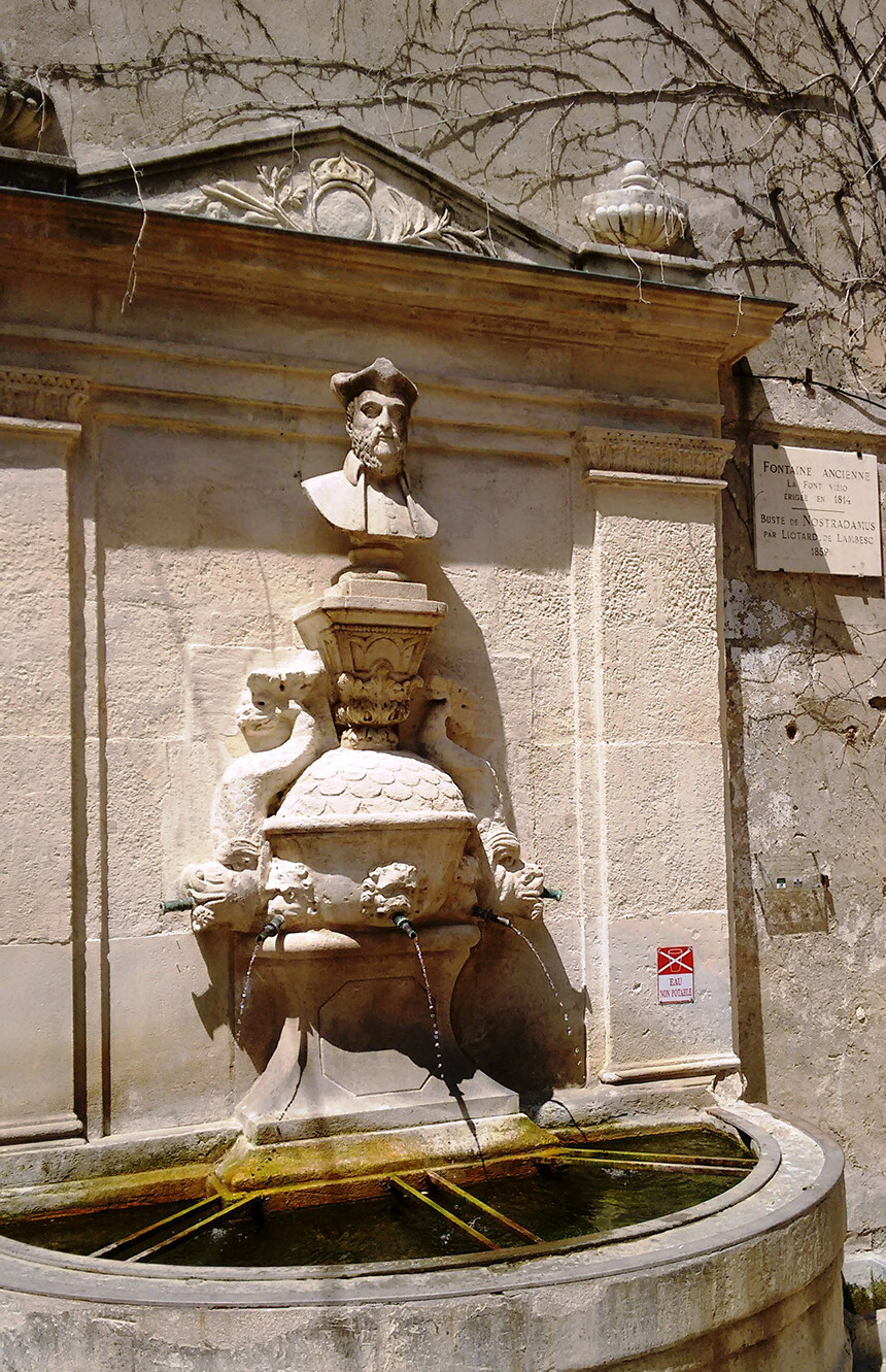 St Remy Provence Lifestyle Near Place Favier fountain Nostradamus