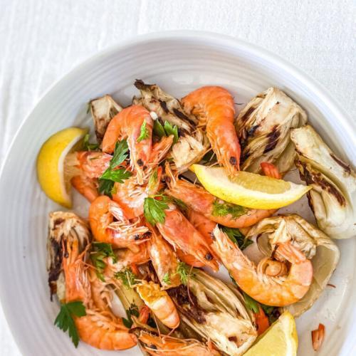 Grilled Prawns Provencal Flavours