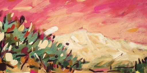 Mont Sainte-Victoire in Pink Miriam Hartmann