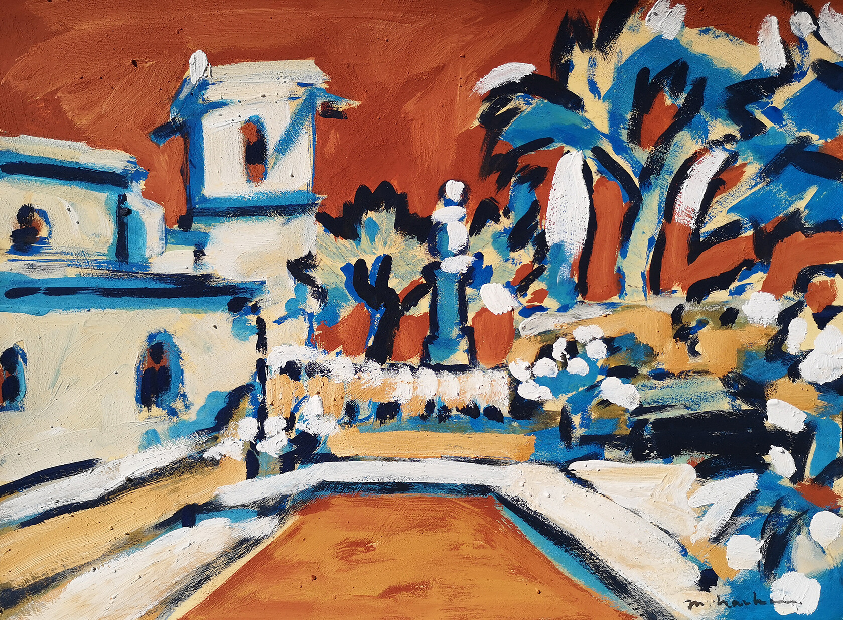 Menerbes Church Miriam Hartmann Artistic Provence