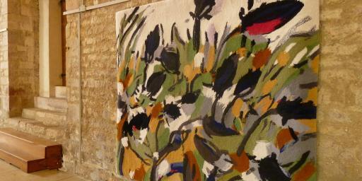Miriam Hartmann Artistic Provence tapis - fleurs indigo, petit rose II