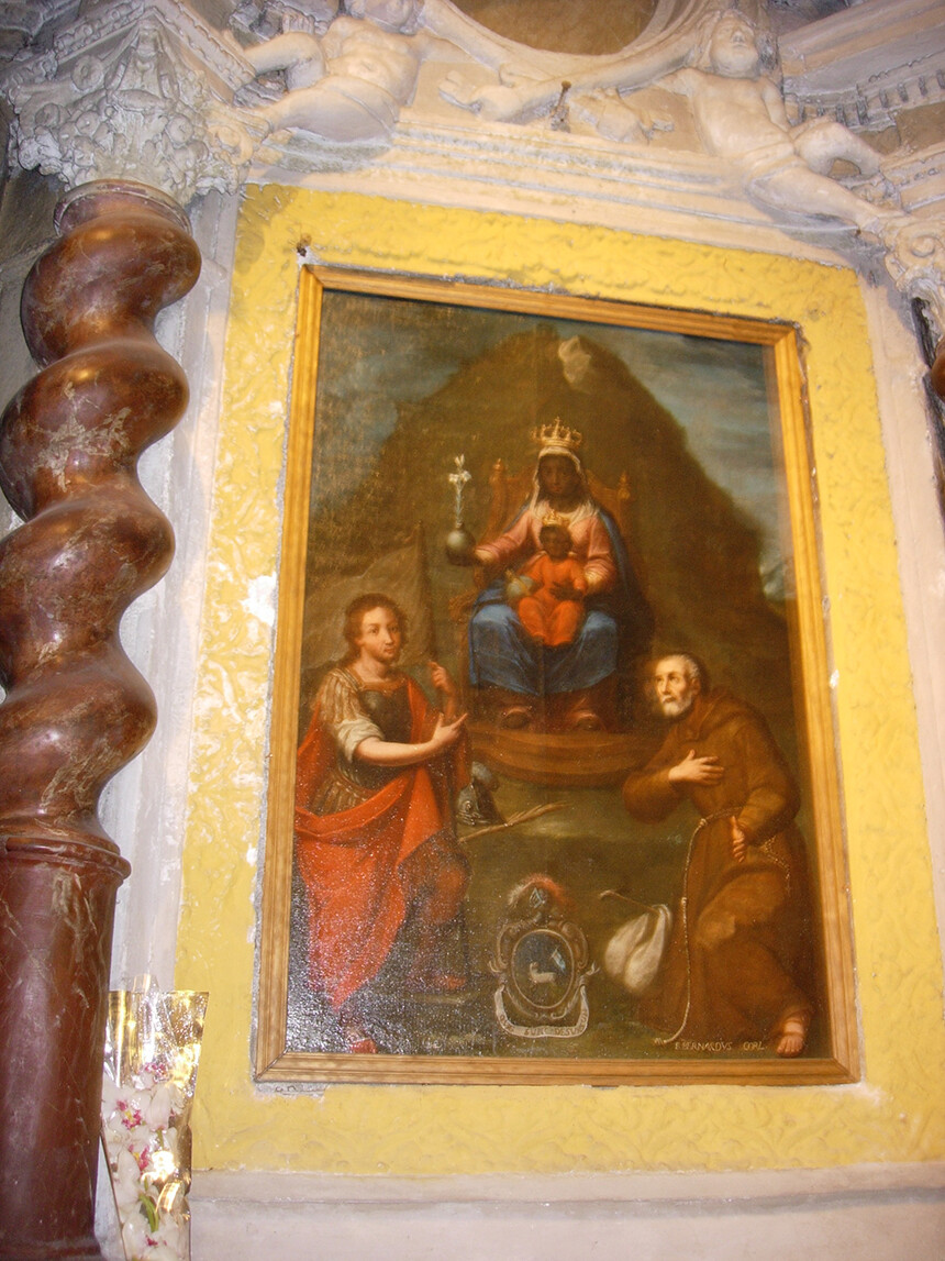 Pilgrimage Sacred Sites France Black Madonna that cured the plague at St. Michael, Menton, France