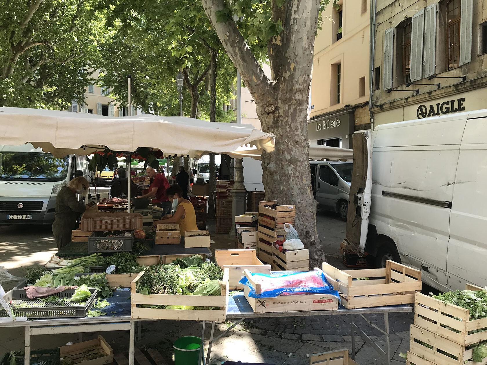 Place Richelme daily market Aix