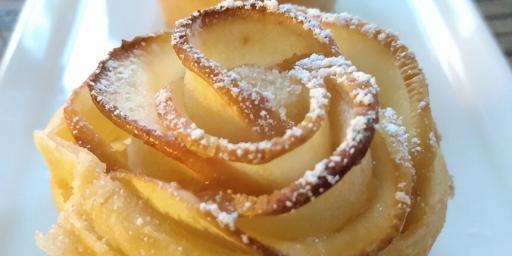 Puff Pastry Roses Apple Dessert