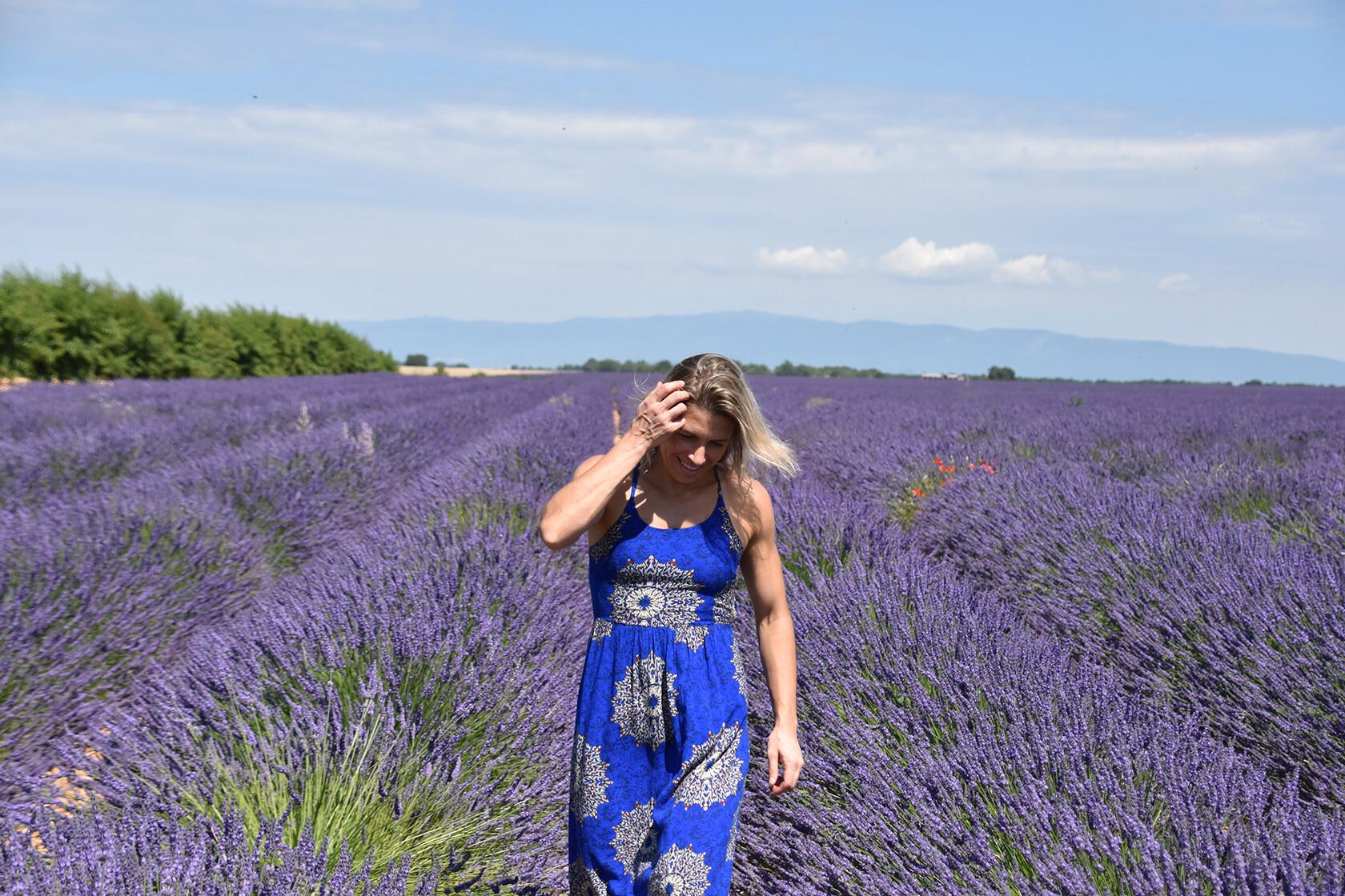 Audrey Archambault lavender field