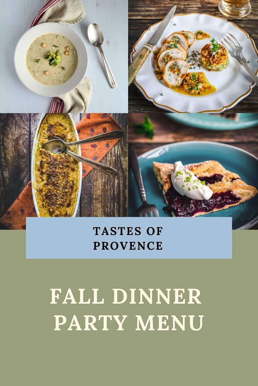 Provence Fall Dinner Party Menu