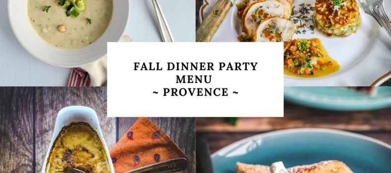 Fall Dinner Party Menu from Provence