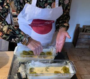 French Desserts Plum Clafoutis Preparation