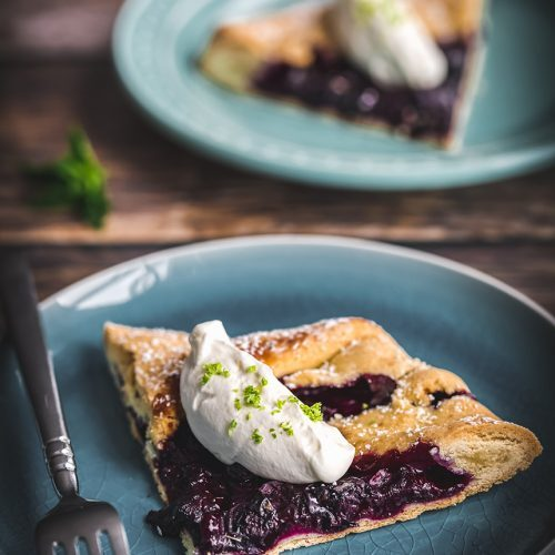 Rustic Blueberry Galette Dessert for Fall Dinner Party Menu