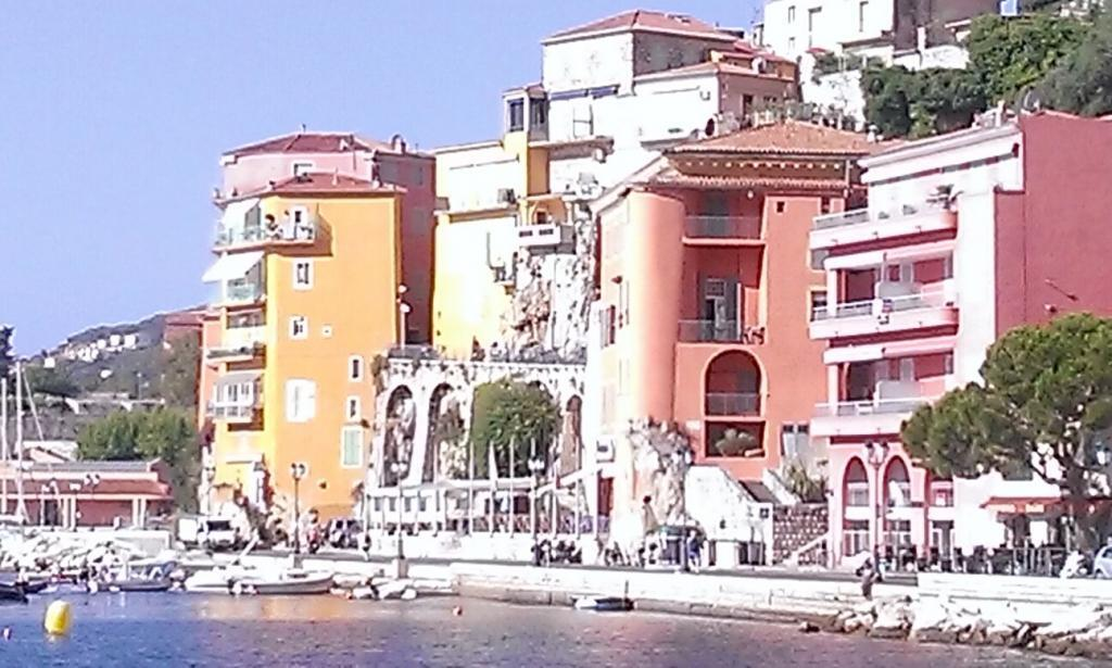 View from the beach in Villefranche-sur-Mer