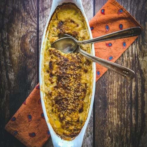 Zucchini Gratin Side Dish Fall Dinner Party Menu