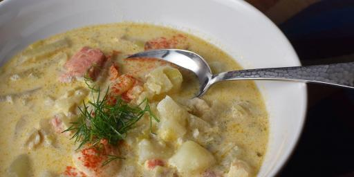 Fish Fennel Chowder Soup