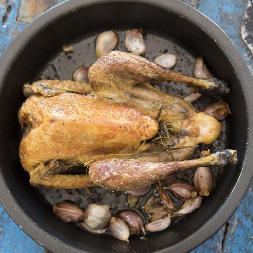 Make Simple Roasted Chicken or Guinea Fowl